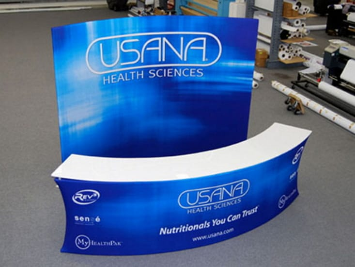 Custom Tension Fabric Exhibit Crescent Counter