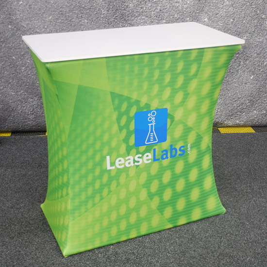 Custom Tension Fabric Exhibit Rectangle Podium
