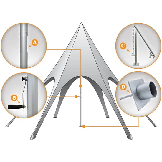 Star Tent Features