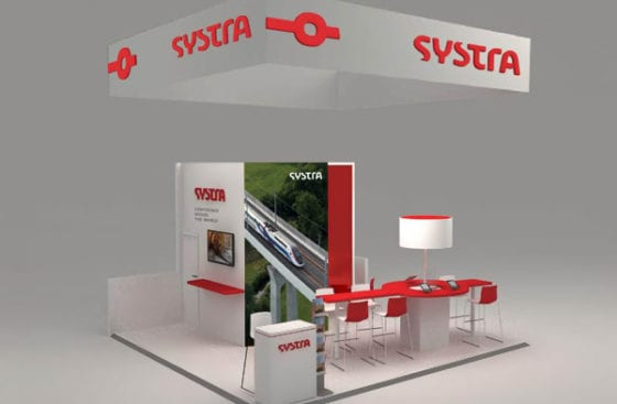 20' x 20' Custom Booth for Systra