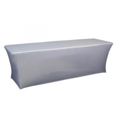 8ft Spandex Table Cover – Full Back, No Zipper