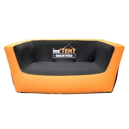 The AirLounge Inflatable Sofa features a custom-printed water resistant neoprene cover making it perfect for temporary outdoor or indoor use. Inflates in under 3 minutes.
