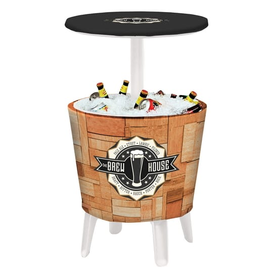 Outdoor Event Cooler Table - Open