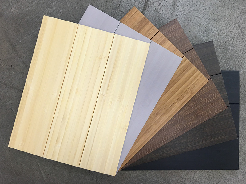 Rollable Bamboo Flooring - Sample Fan