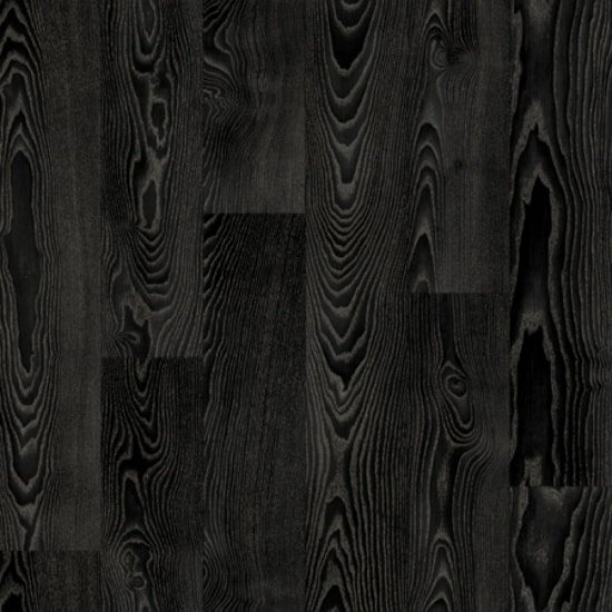 Rollable Vinyl Flooring - Black Wood