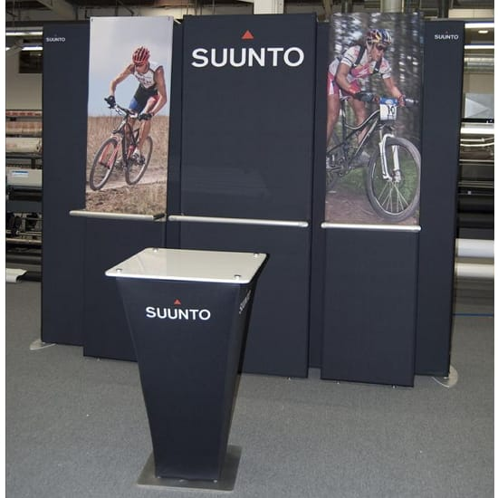 Custom Tension Fabric Podium - Square