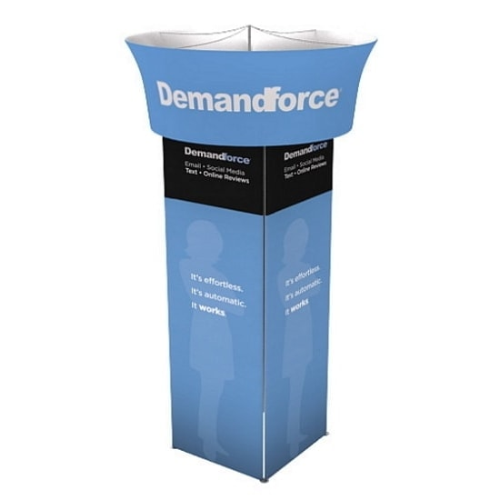 Square Overhead Rotating Tower Display