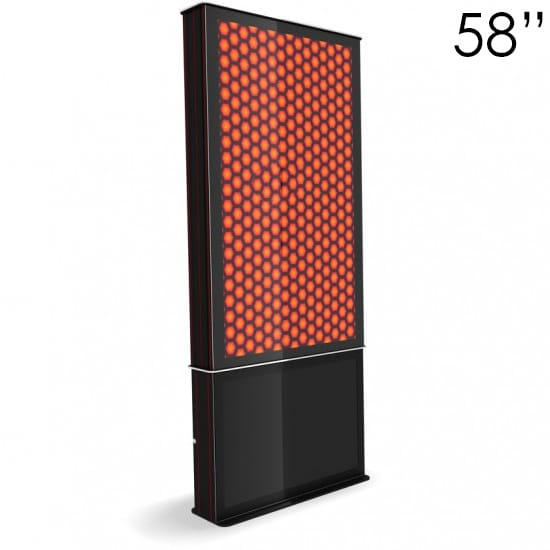 "58"" Black Digital Poster Screen Tower"