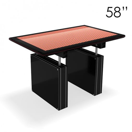 "58"" Large Black Touchscreen Table"
