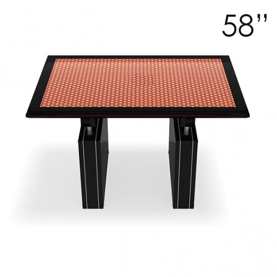 58″ Large Black Touchscreen Table