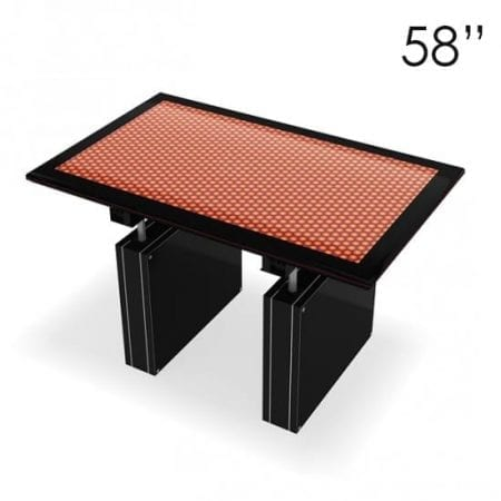 """58"""" Large Black Touchscreen Table"""