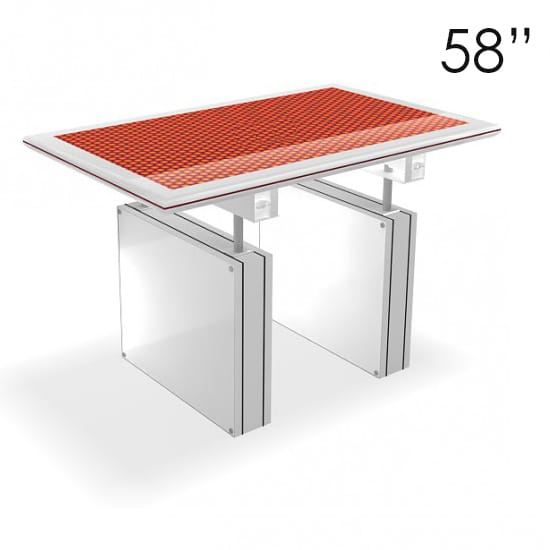 58″ Large White Touchscreen Table