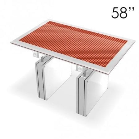 """58"""" Large White Touchscreen Table"""
