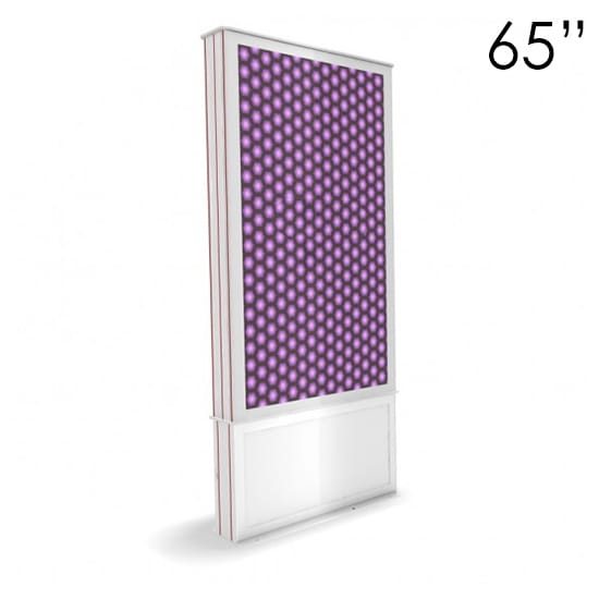 "65"" White Digital Poster Screen Tower"