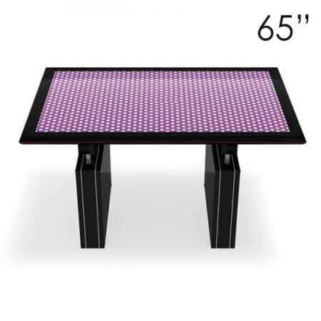 "65"" Large Black Touchscreen Table"