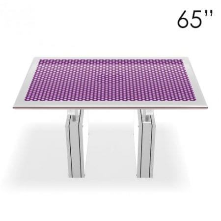 "65"" Large White Touchscreen Table"