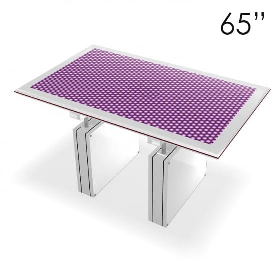 65″ Large White Touchscreen Table