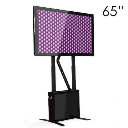 "65"" Black Touchscreen Table upright, horizontal screen at an angle"