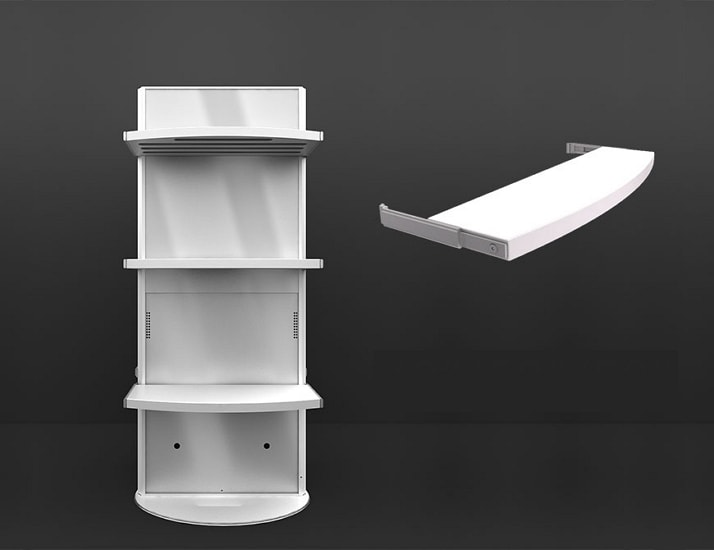 Rectangular White Digital Poster Screen Shelves
