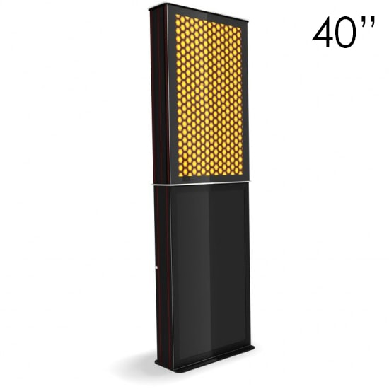40″ Black Digital Poster Screen Tower