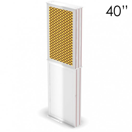 40″ White Digital Poster Screen Tower