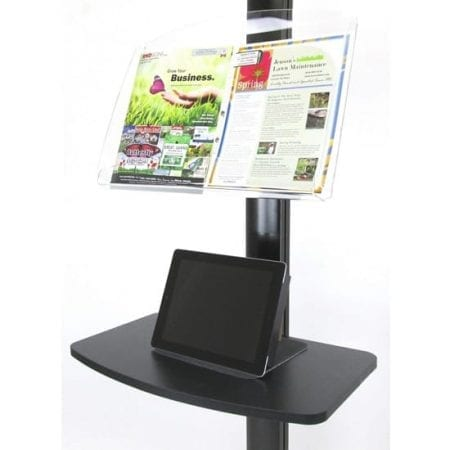 Portable Video Wall Literature Rack