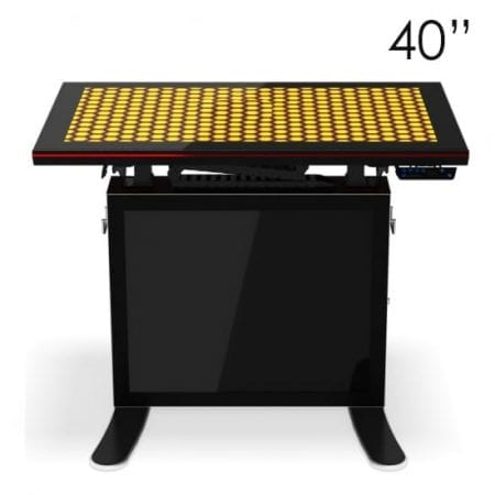 "40"" Black Touchscreen Table"
