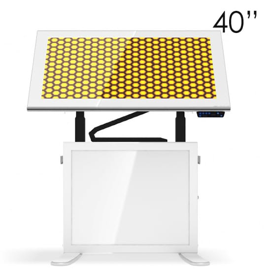 40″ White Touchscreen Table