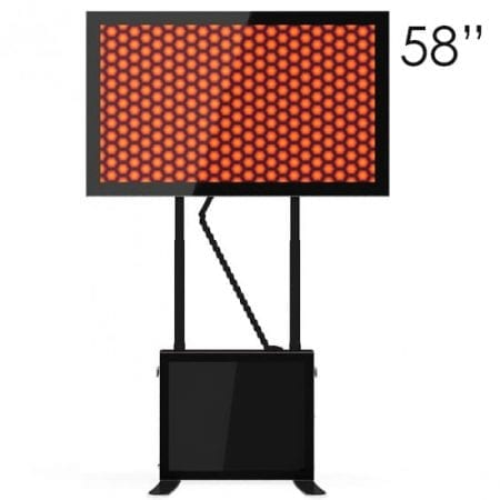 "58"" Black Touchscreen Table"
