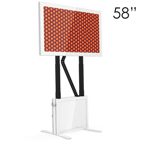 58″ White Touchscreen Table