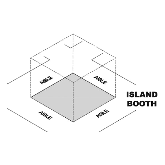 20' x 20' Island Trade Show Booths