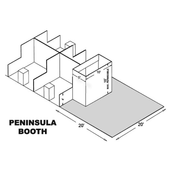 20' x 20' Peninsula Trade Show Booths