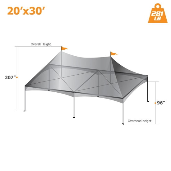 20′ x 30′ Custom Canopy tent