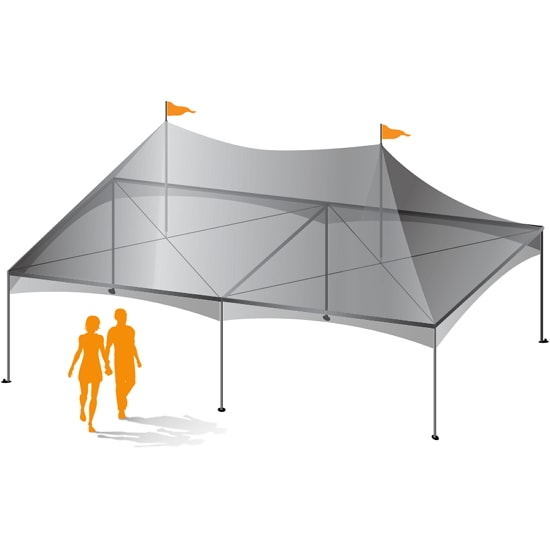 20' x 30' Custom Canopy Tent