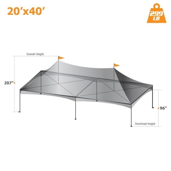 20′ x 40′ Custom Canopy Tent