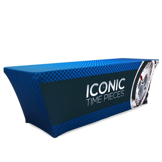 8' Trade Show Stretch Table Cover