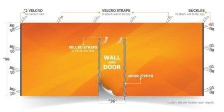 Custom Canopy Tent Wall w/ Door