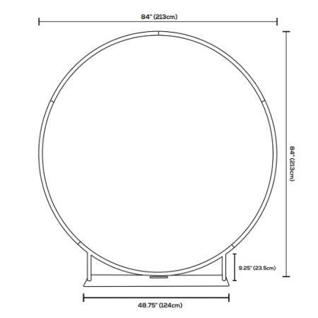 Dimensions for the 7 ft diameter Circle EZ Extends