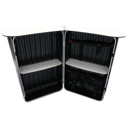 The Podium Counter Case features 2 white internal shelves