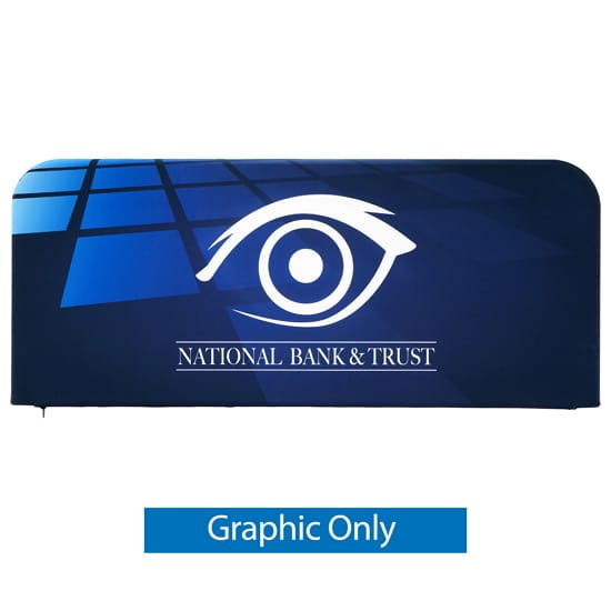 6ft Tension Fabric Barrier – 2-Sided Graphic Only