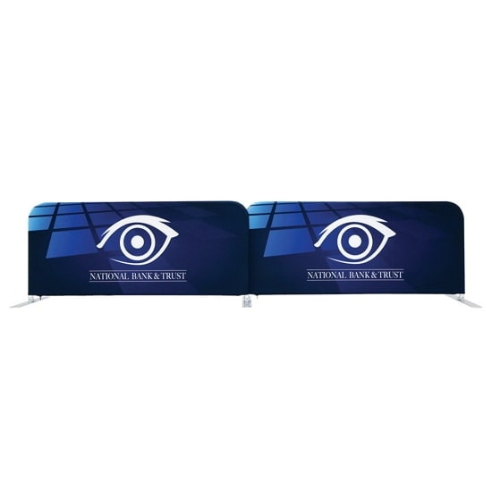 6ft Tension Fabric Barrier Straight Connector Option