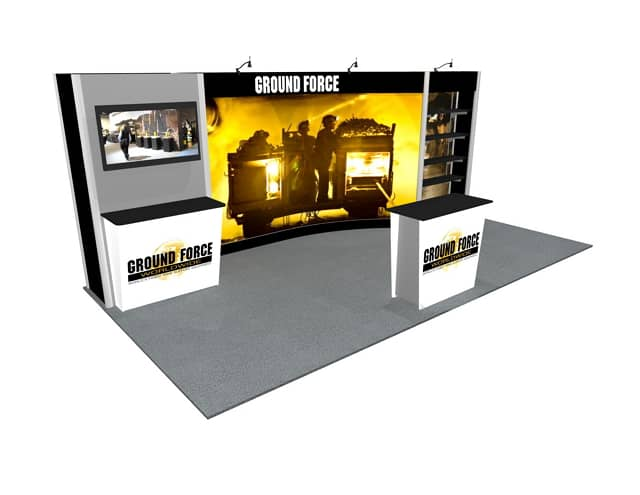 10x20 Turnkey Rental Booth ML2 B