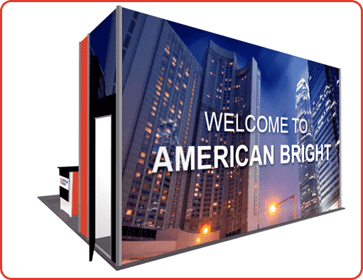 20X20 BOOTH RENTAL TURNKEY LL23 VIEW 2