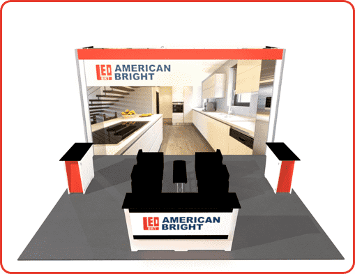 20X20 BOOTH RENTAL TURNKEY LL23 VIEW 3