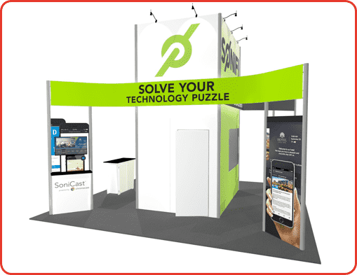 20X20 TURNKEY RENTAL BOOTH LL29 VIEW3