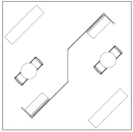 20X20 TURNKEY RENTAL BOOTH LL37 FLOOR PLAN