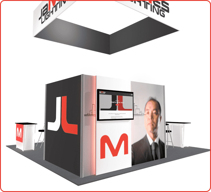 20X20 TURNKEY RENTAL BOOTH LL41 VIEW1