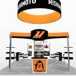 20×20 Turnkey Rental Booth LL71 hanging sign