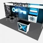 10X20 TURNKEY RENTAL BOOTH 73-2 ANGLE 1