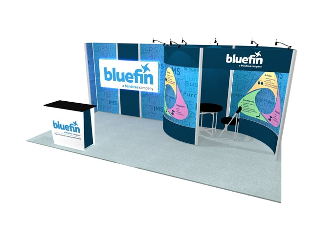 10X20 TURNKEY RENTAL BOOTH ML13 MAIN SIDE